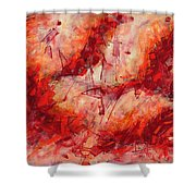 Abstract Art Nineteen Shower Curtain