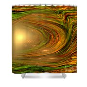 Abstract Art -the Core By Rgiada Shower Curtain