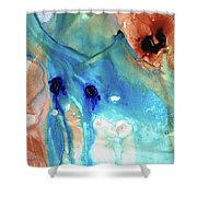 Abstract Art - The Journey Home - Sharon Cummings Shower Curtain