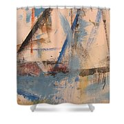Abstract At Sea 1 Shower Curtain