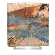 Abstract At Sea 2 Shower Curtain