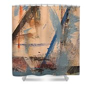 Abstract At Sea 3 Shower Curtain
