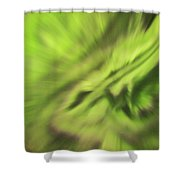Abstract Aurora Shower Curtain