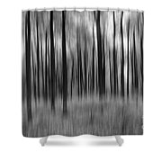 Abstract Autumn Bw Shower Curtain