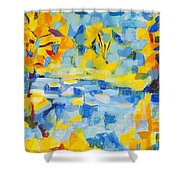Abstract Autumn Landscape Shower Curtain