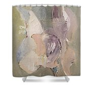 Abstract Aviary Shower Curtain