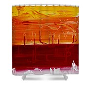Abstract B-14 Shower Curtain
