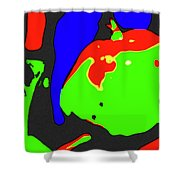 Abstract Baby Apple Shower Curtain