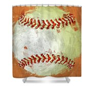 Abstract Baseball Shower Curtain