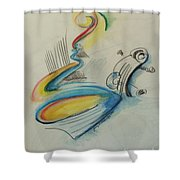 Abstract Bass Shower Curtain
