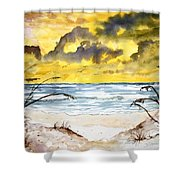 Abstract Beach Sand Dunes Shower Curtain