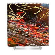 Abstract Berlin Wall 6 Shower Curtain