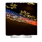 Abstract Berlin Wall 7 Shower Curtain