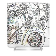 Abstract Bikes Shower Curtain
