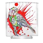 Abstract Bird 002 Shower Curtain