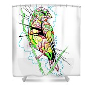 Abstract Bird 01 Shower Curtain