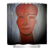Abstract Black  Man Shower Curtain
