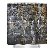 Abstract Bleeding Concrete Shower Curtain