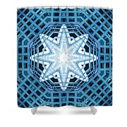 Abstract Blue 14 Shower Curtain