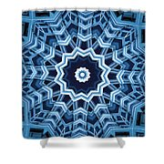Abstract Blue 16 Shower Curtain