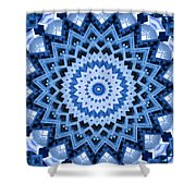 Abstract Blue 17 Shower Curtain
