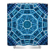 Abstract Blue 18 Shower Curtain