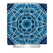 Abstract Blue 19 Shower Curtain