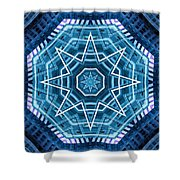 Abstract Blue 20 Shower Curtain