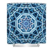 Abstract Blue 22 Shower Curtain