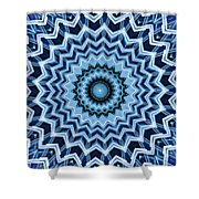 Abstract Blue 25 Shower Curtain
