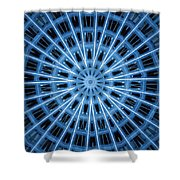 Abstract Blue 28 Shower Curtain