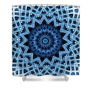 Abstract Blue 30 Shower Curtain