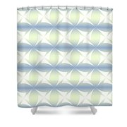 Abstract Blue And White Background Shower Curtain
