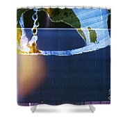 Abstract Blue And Yellow  Shower Curtain