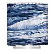 Abstract Blue Background Wild River Shower Curtain
