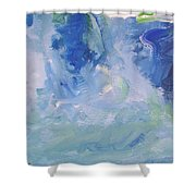 Abstract Blue Reflection Shower Curtain