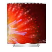 Abstract Blur Firework Background Shower Curtain