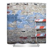 Abstract Brick 2 Shower Curtain