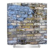 Abstract Brick 6 Shower Curtain