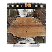 Abstract Bridge Over Road Shower Curtain