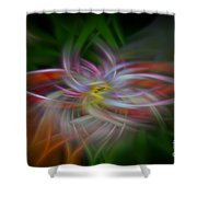 Abstract Brilliant Fibers  Shower Curtain