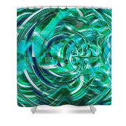 Abstract Brutality The Vortex Shower Curtain