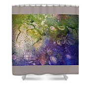 Abstract Bubbles And Rivers Shower Curtain