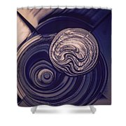 Abstract Bubbles Shower Curtain
