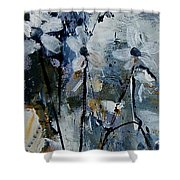 Abstract Bunch Of Flowers  Shower Curtain