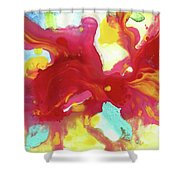Abstract Butterfly Floral Shower Curtain