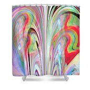Abstract Butterfly Shower Curtain by Mihaela Stancu