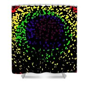 Abstract Cactus Eye  Shower Curtain
