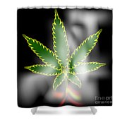 Abstract Cannabis Background Shower Curtain