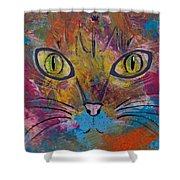 Abstract Cat Meow Shower Curtain